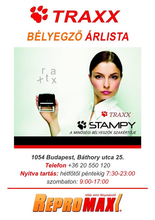 traxx bélyegző készítés festékpárna zsebbélyegző árlista